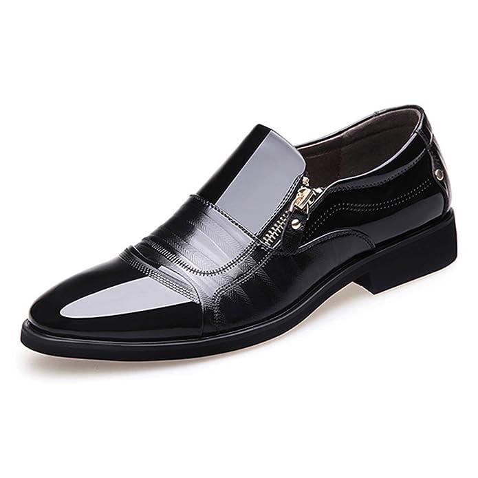 Amazon.com: Blivener - Zapatos de plisado para hombre ...