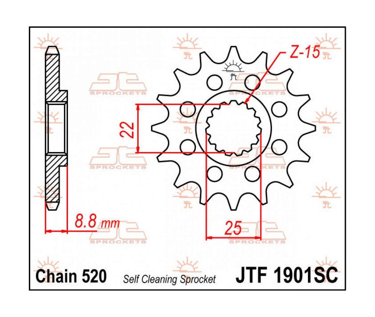 PIGNON 14 DENTS ACIER KTM SX SXF MX EXC EXCF JTF1901.14SC