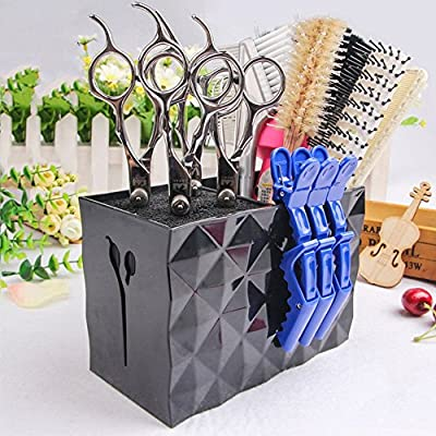 Professional Salon Scissors Rack Holder Case Hair Clips Storage Box Hairdressing Combs Organizer Doubtless Bay