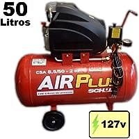 Compressor de Ar 120 libras 2HP 50 Litros Mono c/Rodas 127v Schulz