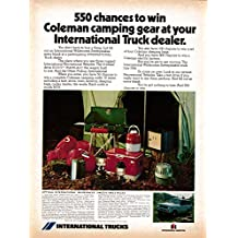1973 International Harvester- Travelall-Coleman Give-Away -Original Magazine Ad