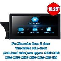 TOPNAVI Android 8.1 Multimedia for automóvil for Benz C ClassS204 C180 C200 C220 C250 C350 C320 C320 CDI C63 W204 Volante a la Izquierda 2011 2012 2013 Auto GPS Navi 4G IPS WiFi Enlace de Espejo RDS