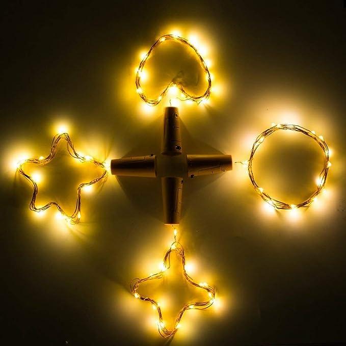 Luz Led Botella ,Luces Led Para Botellas, Luz de Bricolaje Flexible y Seguro Para , 20 LED Corcho Micro Luces para Entorno Romántico en Boda Fiestas DIY ...