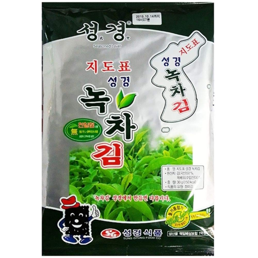 Green Tea Laver Full Size 30g x 10 녹차김 by Sung Gyung Food (Image #1)