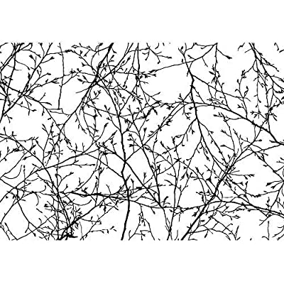 Vector Seamless Texture of the Branches on the White Background, Premium Product, Delightful Print