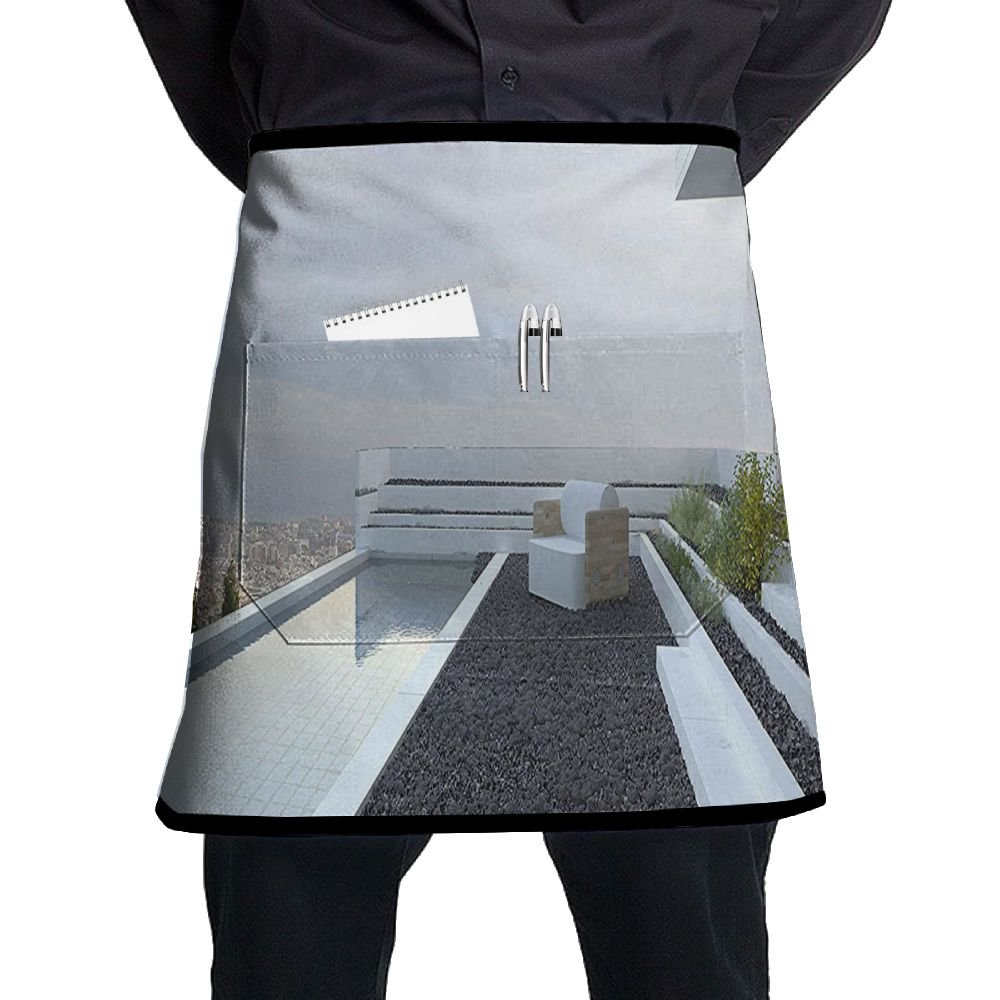 Guiping Contemporary Luxury House With Panoramic View Patio Pebbles Pool Kitchen Apron With Pockets For Men And Women