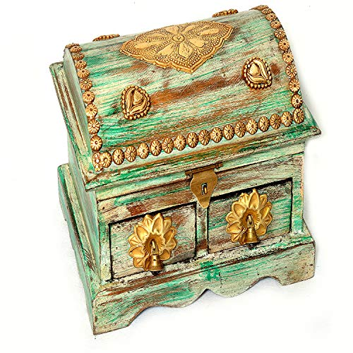 Rustic Wooden Jewelry Box Organizers for Girls Women - Necklaces Earrings Rings Watches Storage Case Holder - Vintage Gift Box from Eurasia
