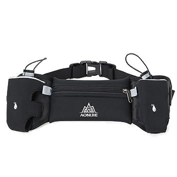 Docooler Cinturones de Hdratación Bolso de la Cintura del Funcionamiento  Unisex Bolso Ligero de la Cintura de los Deportes con el Sostenedor Dual de  la ... c9af5975274d