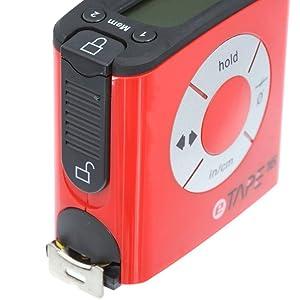 eTape16 ET16.75-DB-RP Digital Tape Measure, 16', Red, Inch and Metric