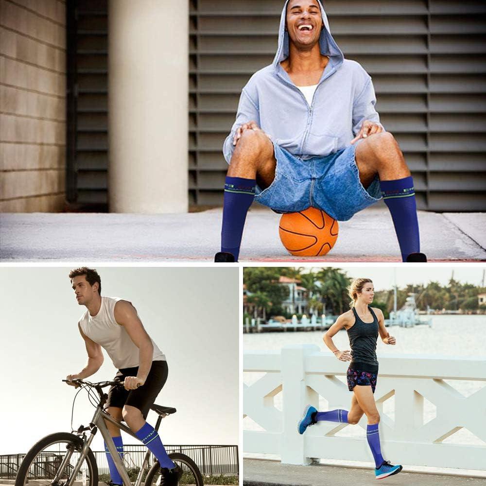 Lavoro Medicina Gravidanza Viaggi Volo Calze a Compressione Comfort da Maratona Calze a Compressione per Donna e Uomo Traspiranti in Sport