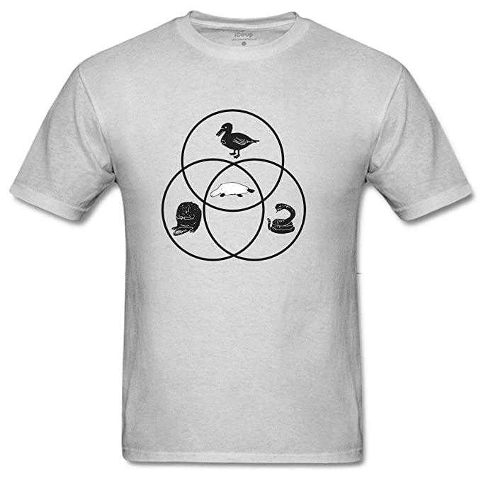 Amazon Pewaterfall2 Mens Platypus Venn Diagram T Shirts Clothing