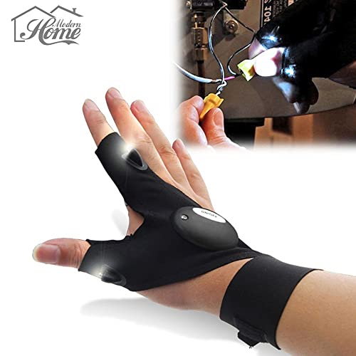 GLOVE TORCH Flashlight LED torch Light Flashlight Tools Fishing Cycling Plumbing Hiking Camping THE TORCH YOU CANT DROP Gloves 1 Piece Men's Women's Teens One Size fits all XTRA BRIGHT