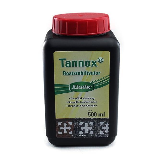 Wie Kann Eisen Vor Rost Schützen kluthe tannox roststabilisator 500 ml amazon de baumarkt
