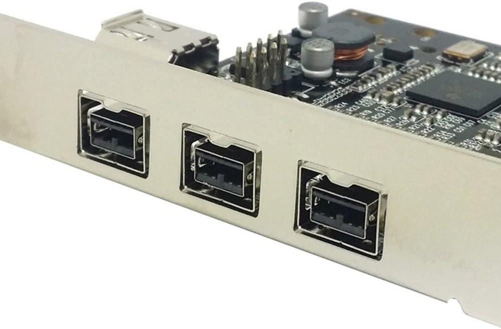 4 Ports PCIe PCI-E Express FIREWIRE 800 1394B Card 3+1 Card Work Windows 8/7 / MAC OS