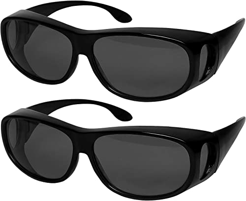 Wear Over sunglasses for men women Polarized lens,fit over Prescription Glasses