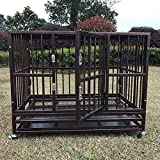 Bestmart INC 37' Heavy Duty Dog Cage Crate Kennel Metal Pet Playpen Portable w/Tray NEW (36.3'(L) x 24.2'(W) x 29.1' (H))