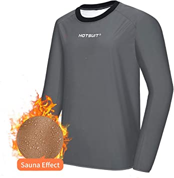 HOTSUIT Sauna Jacke Sportshirt Herren Abnehmen Schwitzjacke Fitness Lang Sport Shirt Trainingsshirt