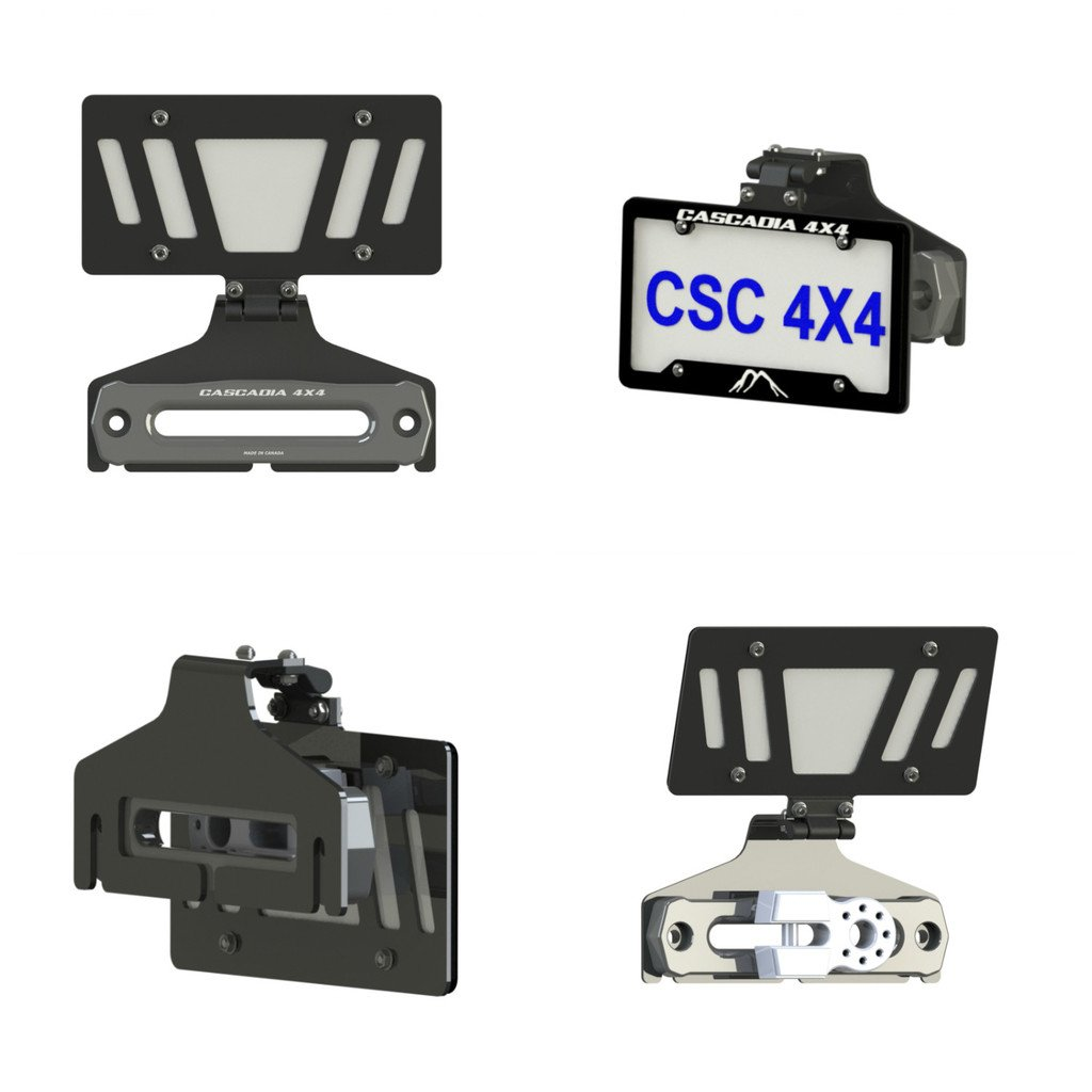 Cascadia 4x4 Flipster V2 - Winch License Plate Mounting system - Hawse/Roller fairlead compatible - Made in USA/Canada by Cascadia 4x4 (Image #6)
