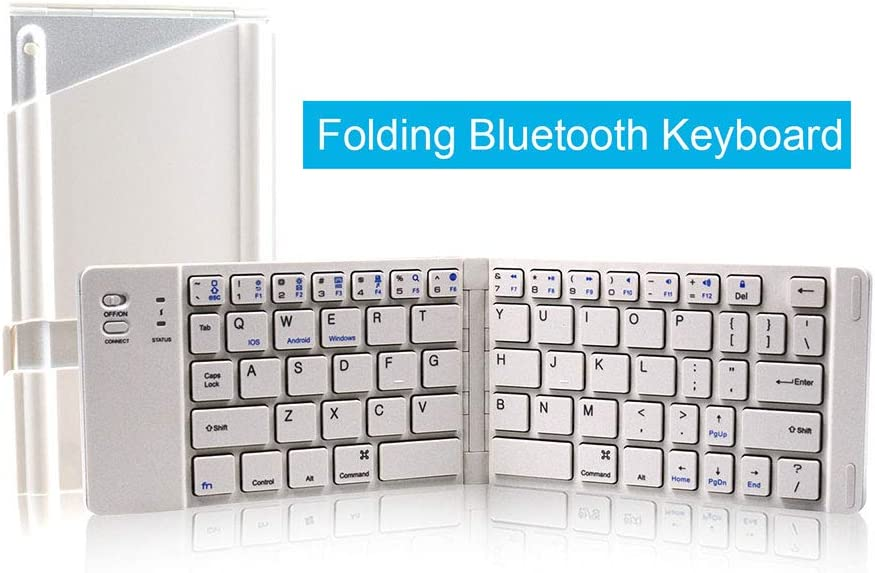 CHENGL Two fold Keyboard Portable Folding Keyboard Folding Bluetooth Keyboard Wireless Folding Keyboard is The Best Choice for Your Business Travel.