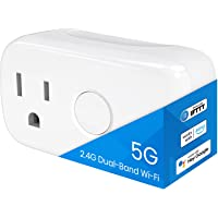 BroadLink 5G Dual Band Wi-Fi Smart Plug Mini, Smart Home Timer Outlet Socket, Works with Alexa, Google Home, IFTTT. No…