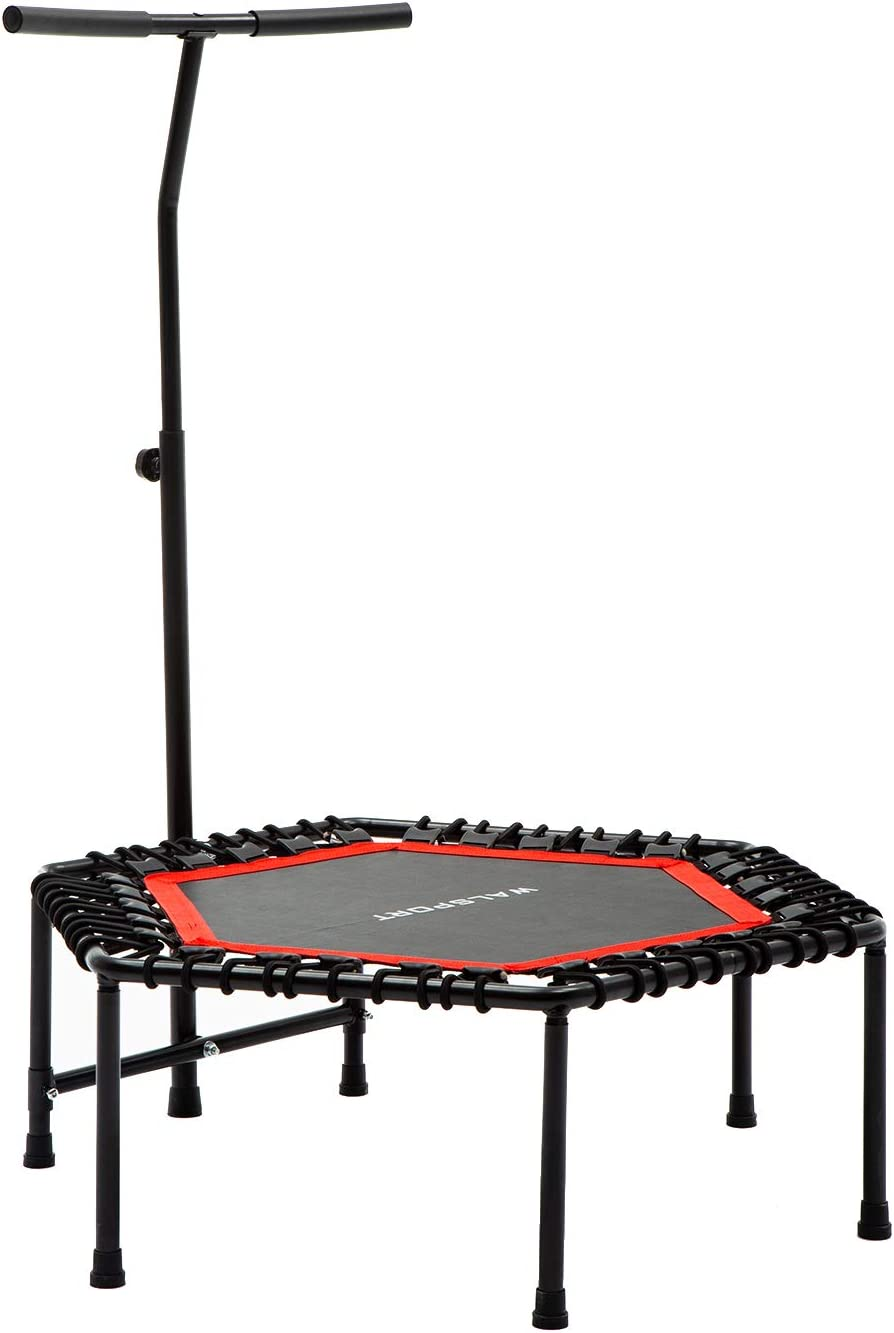 wonline 48 Exercise Trampoline Rebounder-Indoor Jump Fitness Bouncer with Adjustable Handle for Adults and Kids, 275lbs Capacity