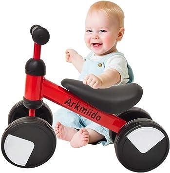 Arkmiido Bicicleta de Equilibrio para niños de 1 a 2 años, Marco de Acero al Carbono, Bicicleta de Entrenamiento para Caminar sin Pedal, Regalos de cumpleaños para niños y niñas: Amazon.es: Juguetes