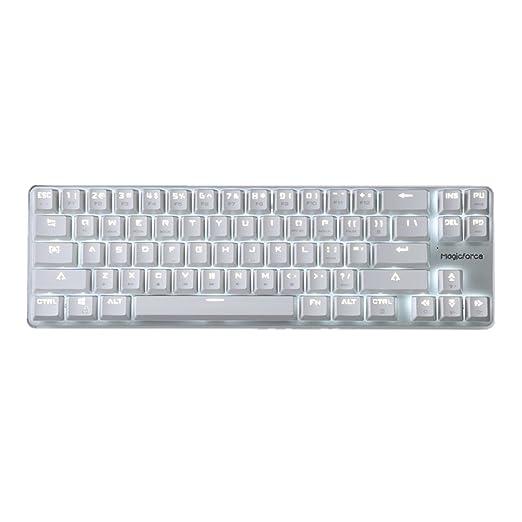 2 opinioni per Retroilluminati meccanica 68 tasti della tastiera bianca Argento Magicforce da