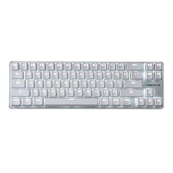 Mecánica Teclado Gaming Keyboard Interruptor Gateron Red Cableada Retroiluminado Mecánica Del Mini Diseño (60%) 68 Teclas Del Teclado De Plata Blanco ...