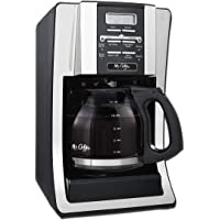 Mr. Coffee 12-Cup Programmable Coffee Maker with Thermal Carafe Option, Chrome
