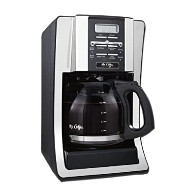 Mr. Coffee 12-Cup Programmable Coffee Maker, Bundle with 1 Month Water Filtration