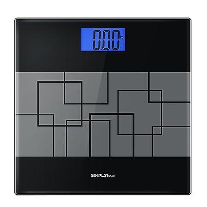Báscula de Baño Digital 180kg/400lb de Alta Medición Precisa, Gran Plataforma de Vidrio