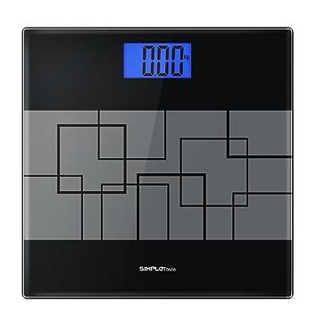 Báscula de Baño Digital 180kg/400lb de Alta Medición Precisa, Gran Plataforma de Vidrio Templado, Cristal Negro: Amazon.es: Hogar