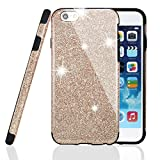 iPhone Case , MEKO® Shiny Sparkle Glitter Bling Case [ Anti-falling off ] ** Premium Branded High Quality Soft Gel Flexible TPU Case [Scratch Resistant] for iPhone 6 and iPhone 6S -- (Gold)