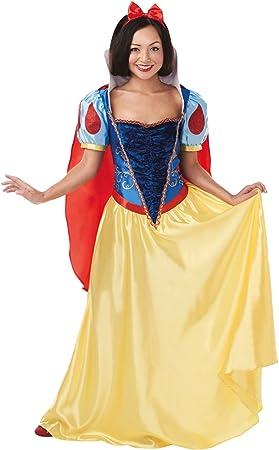 Princesas Disney - Disfraz de Blancanieves Deluxe para mujer ...