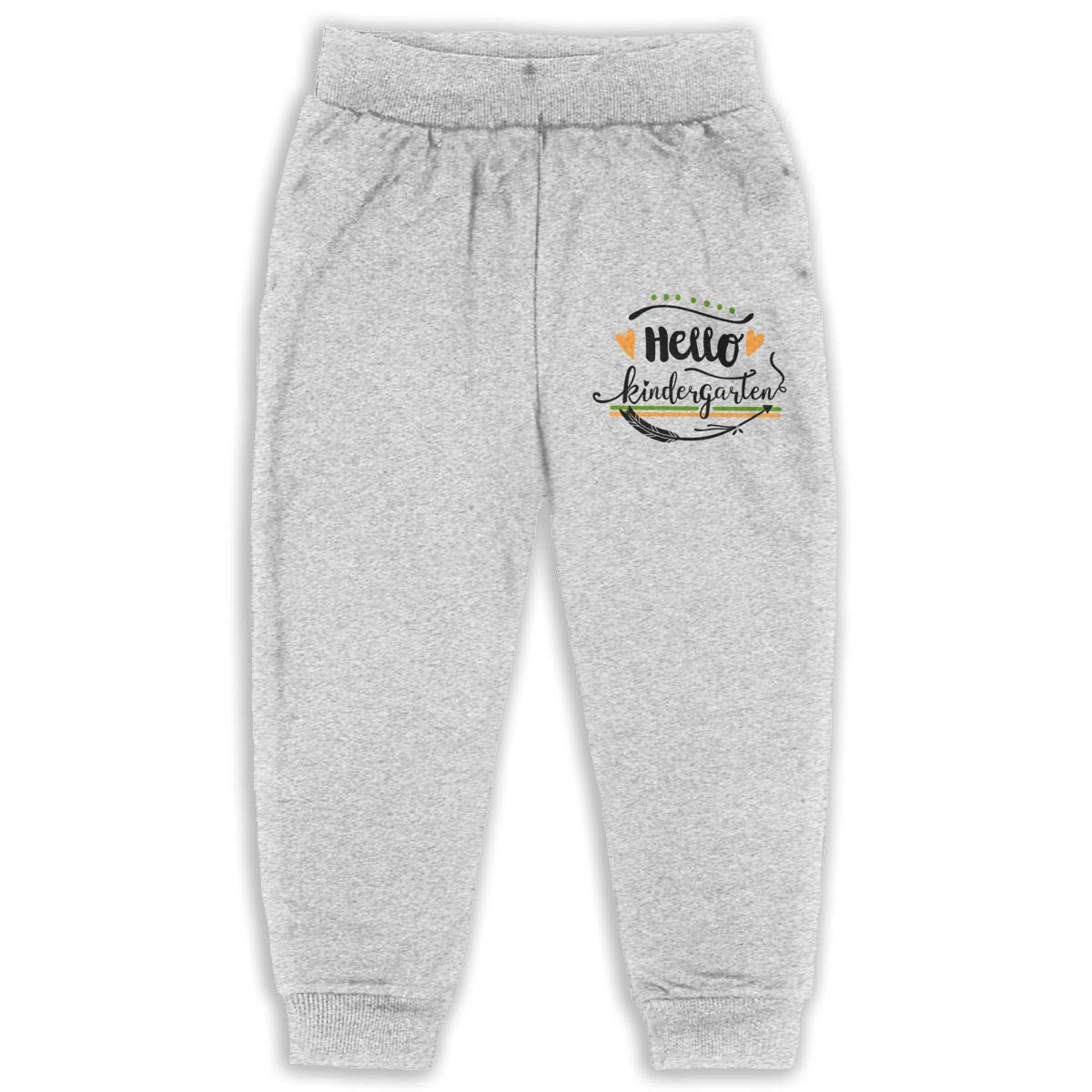 GHYNJUM Hello Kindergarten Unisex 2-6T Autumn Winter Cotton Fashion Trousers Child
