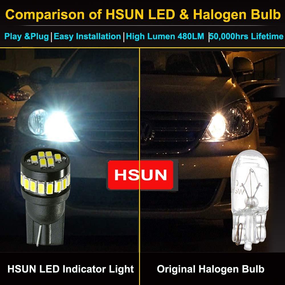 36MM Festoon C5W LED Bulb,HSUN 6411 6413 6418 6461 6486X DE3423 DE3425 Canbus Error Free 12V-24V 12LED-SMD2016 Chip for Car Interior,Dome Light,Number Plate Lights and more,2 Pack,6000K White