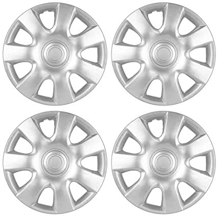 Amazon.com: OxGord Hub-caps for 02-04 Toyota Camry oyota Camry Wheel Covers 15 inch Snap On Silver: Automotive