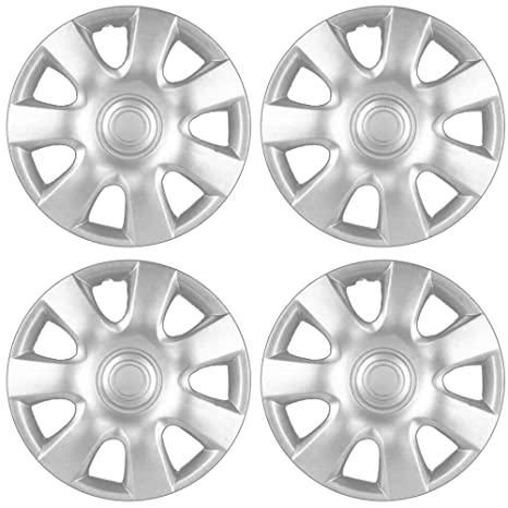15 inch Hubcaps Best for 2002-2004 Toyota Camry - (Set of 4) Wheel Covers 15in Hub Caps Silver Rim Cover - Car Accessories for 15 inch Wheels - Snap On ...