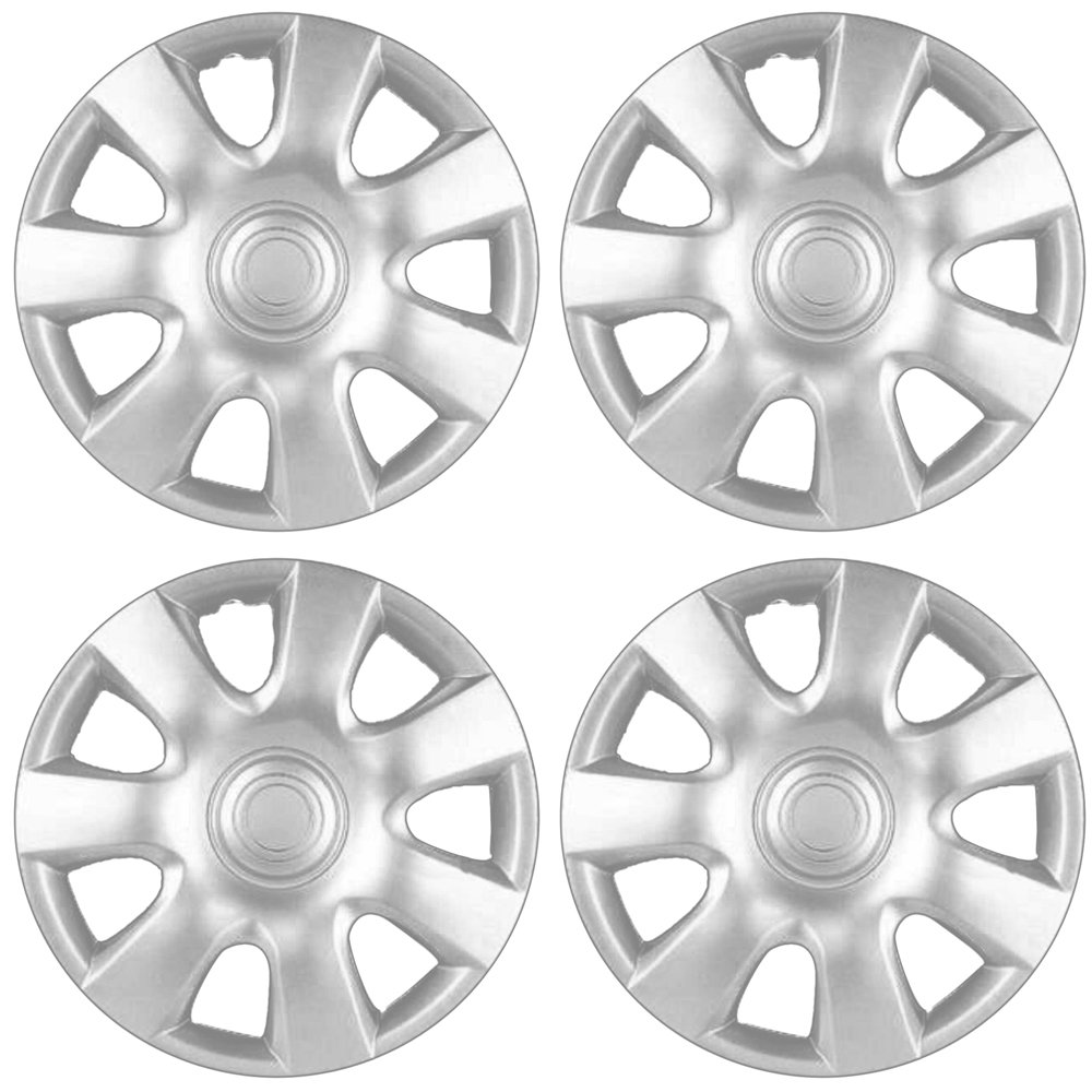OxGord Hub-Caps for Select Toyota Camry (Pack of 4) 15 Inch Silver Wheel Covers