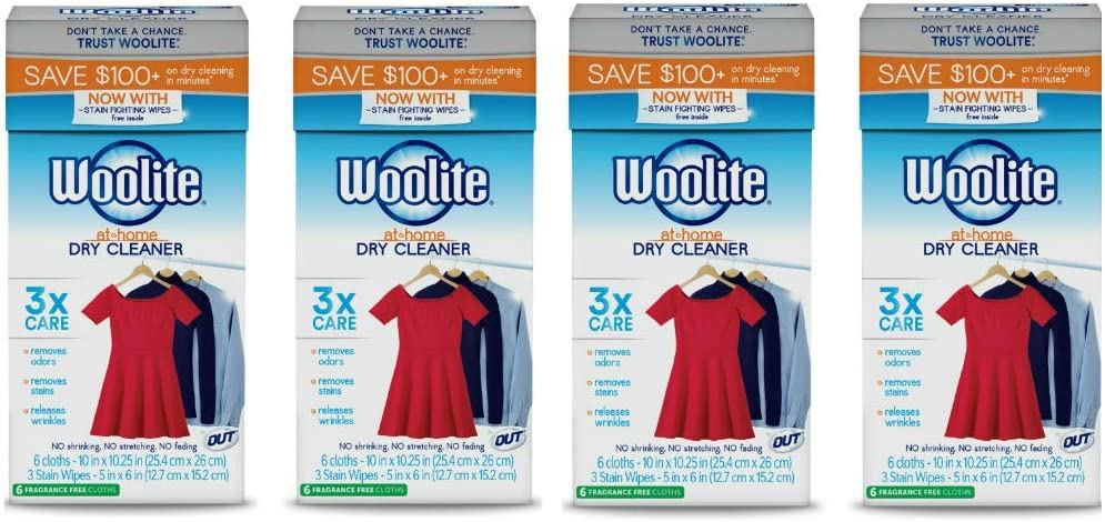 Woolite at-Home Dry Cleaner, Fragrance Free, 24 Cloths