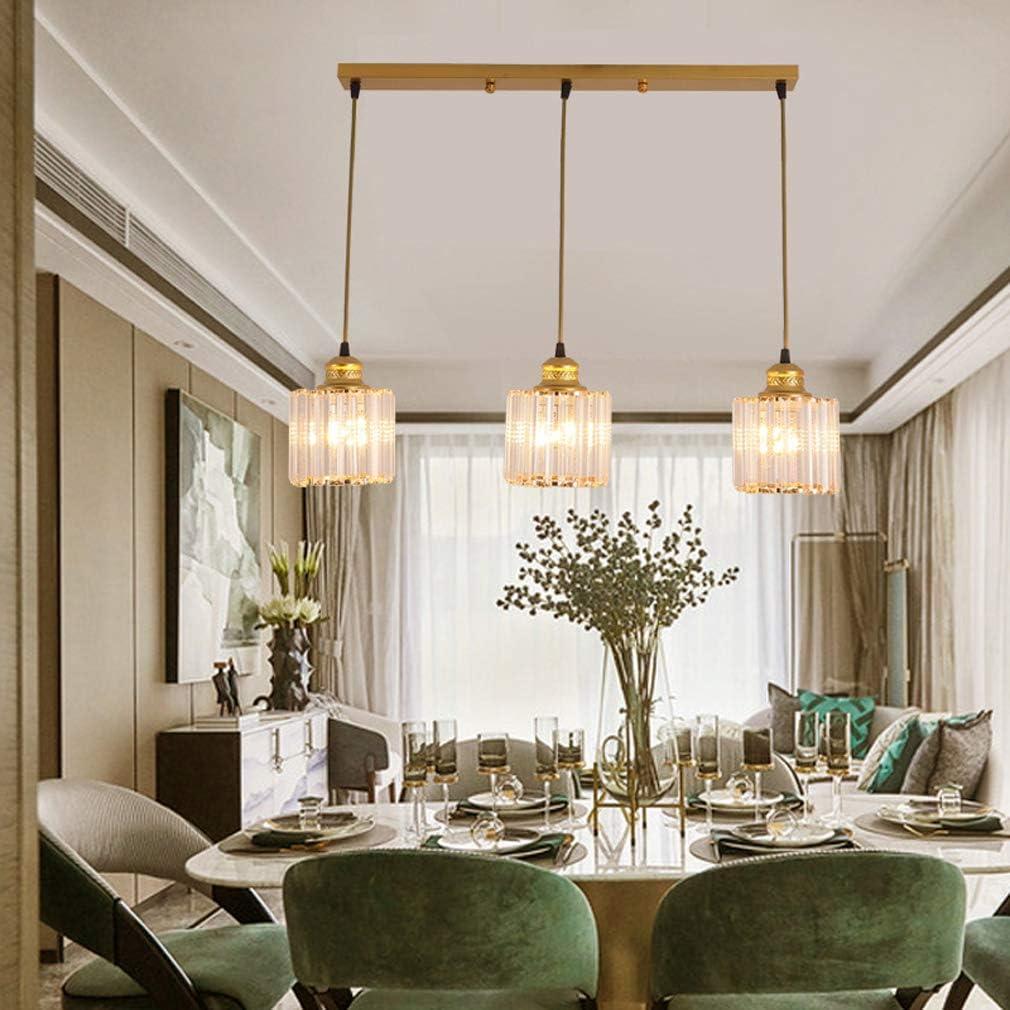 HKLY Modern Creative Deckenleuchte, Kristall Glas Hängend Kronleuchter E27 Pendelleuchtemit 3 Leuchten Für Küche Flur Wohnzimmer Schlafzimmer Dekor Beleuchtung,B B