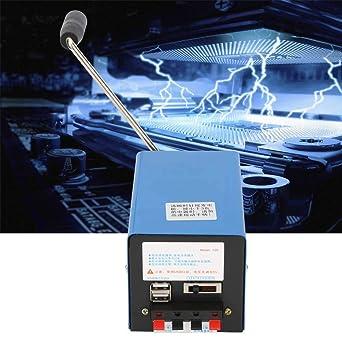Generador manual, generador USB, generador portátil de alta potencia en miniatura para comunicación de emergencia, falta de energía a largo plazo, ...