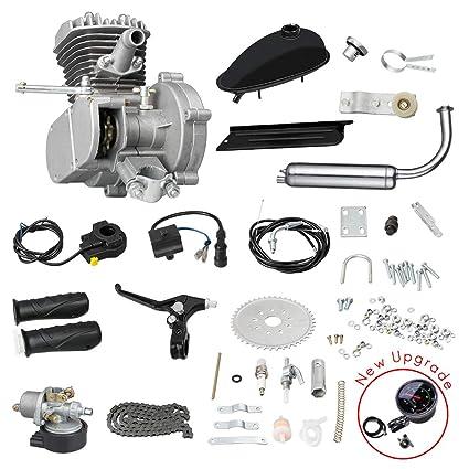 Amazon com : kunray 80CC Motorized Bike Motor Kit, 2-Stroke Petrol