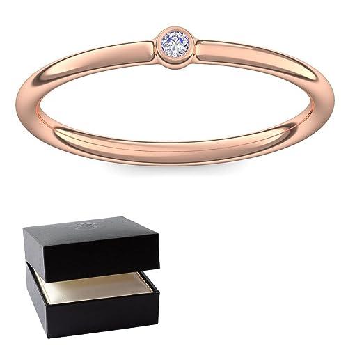 vorst esquina anillos de compromiso anillo rojo oro anillo diamante de gran calidad Dorado. +