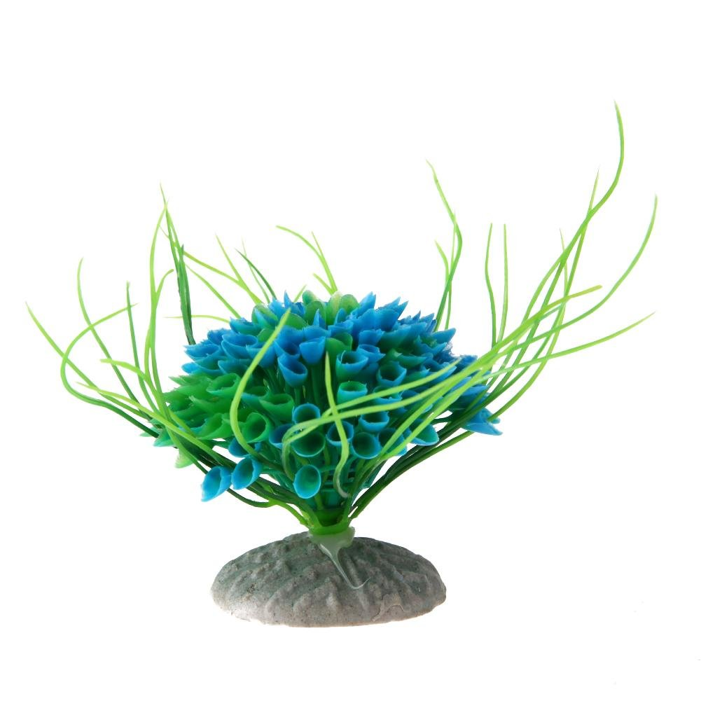 Domybest Plástico Acuario Artificial Mini Planta Pecera Paisaje Multicolor Césped: Amazon.es: Productos para mascotas