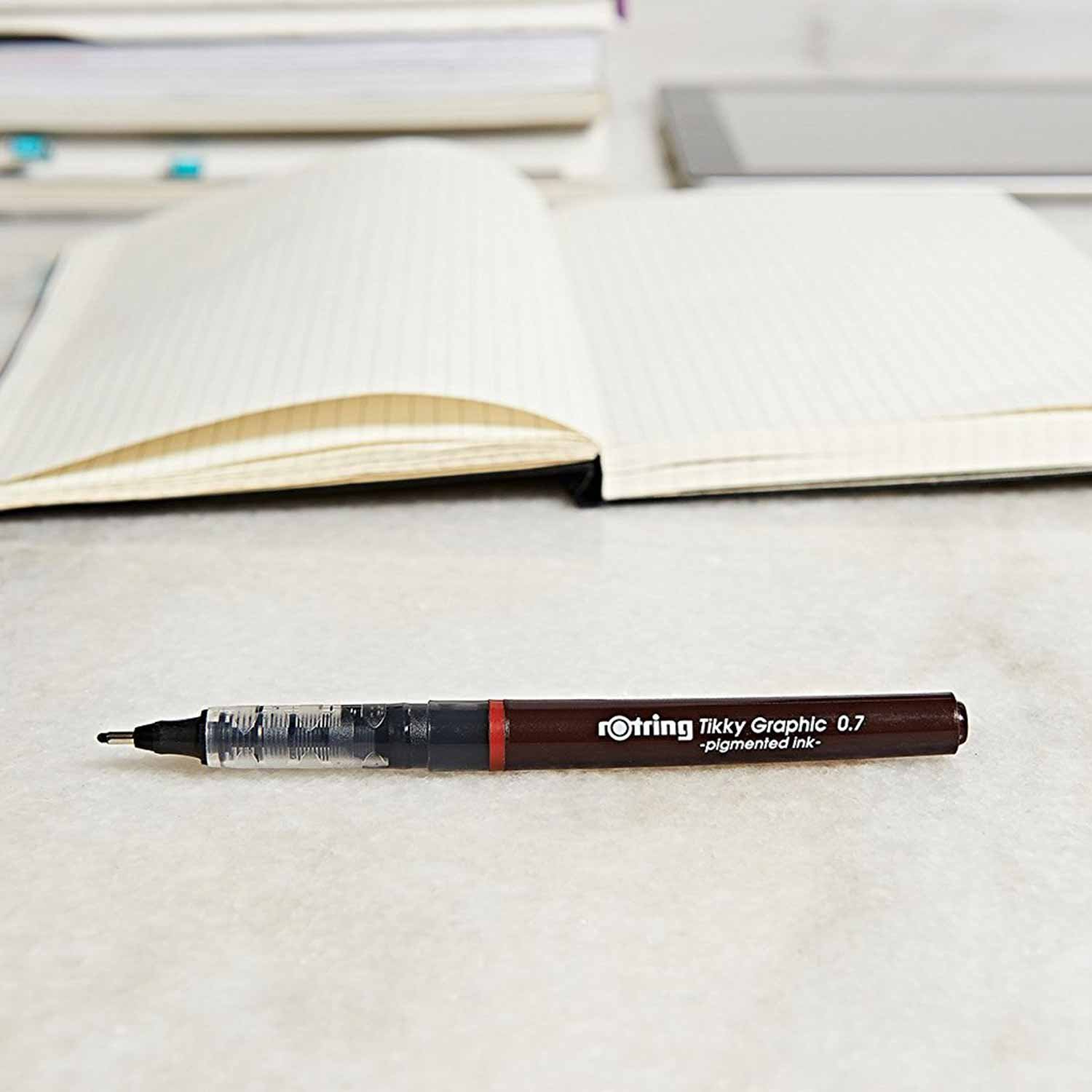 rOtring Tikky Graphic Fineliner Pens, 0.7mm & 0.5mm & 0.3mm, Black Ink, 3 Count by Rotring (Image #9)