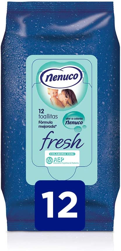 Nenuco Toallitas Fresh Pack TO GO - 12 unidades: Amazon.es: Belleza