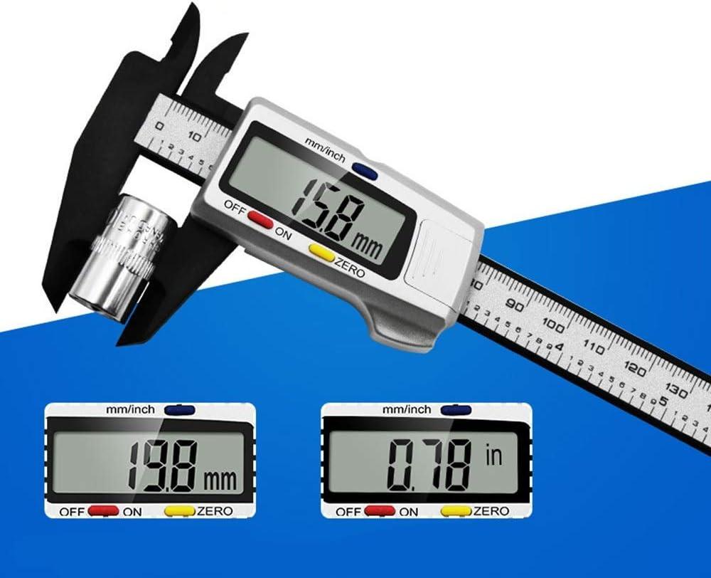 Plastic Electronic Vernier Caliper 0-150mm Three-Color Button Digital Display Vernier Caliper KANJJ-YU High Precision Size : 0-150mm