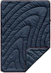 Rumpl The Original Puffy | Junior Sized Indoor Outdoor Camping Blanket for Traveling, Picnics, Beach Trips, Concerts for Babies and Kids | Deepwater, Junior