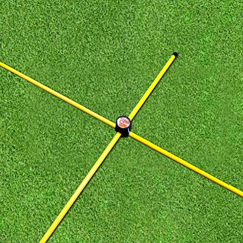 David Leadbetter Training Aids - Elixir Golf The Alignment Rods, Pack of (2) Rods + (2) Cross Connector, Yellow